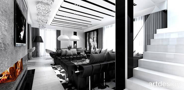 wnętrze domu: styl , w kategorii Salon zaprojektowany przez ARTDESIGN architektura wnętrz,Nowoczesny