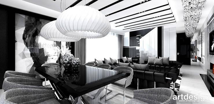 nowoczesna jadalnia: styl , w kategorii Jadalnia zaprojektowany przez ARTDESIGN architektura wnętrz,Nowoczesny
