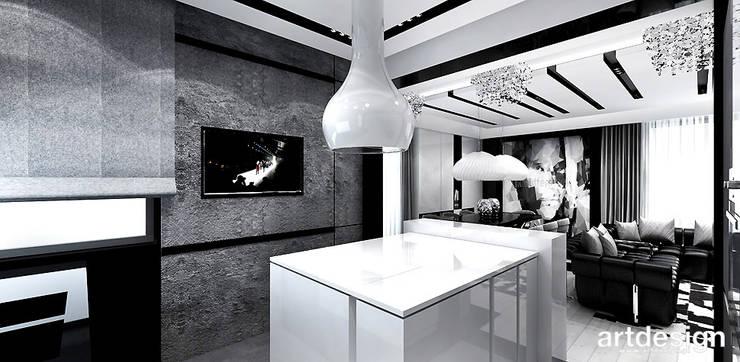 kuchnia z wyspą: styl , w kategorii Kuchnia zaprojektowany przez ARTDESIGN architektura wnętrz,Nowoczesny