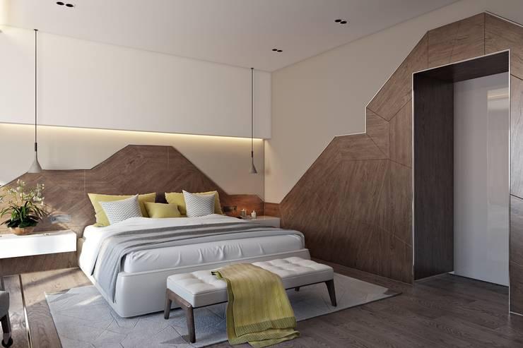 minimalistic Bedroom by СВЕТЛАНА АГАПОВА ДИЗАЙН ИНТЕРЬЕРА
