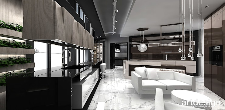 KITCHEN DESIGN IDEAS   SURMAR   Showroom : styl , w kategorii Powierzchnie handlowe zaprojektowany przez ARTDESIGN architektura wnętrz