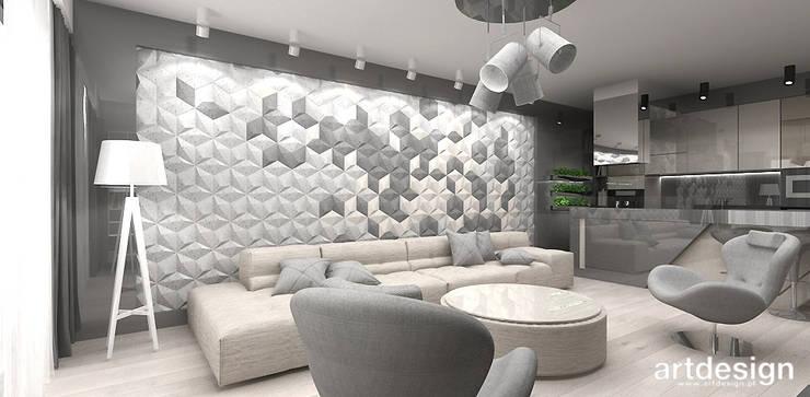 projekt salonu: styl , w kategorii Salon zaprojektowany przez ARTDESIGN architektura wnętrz