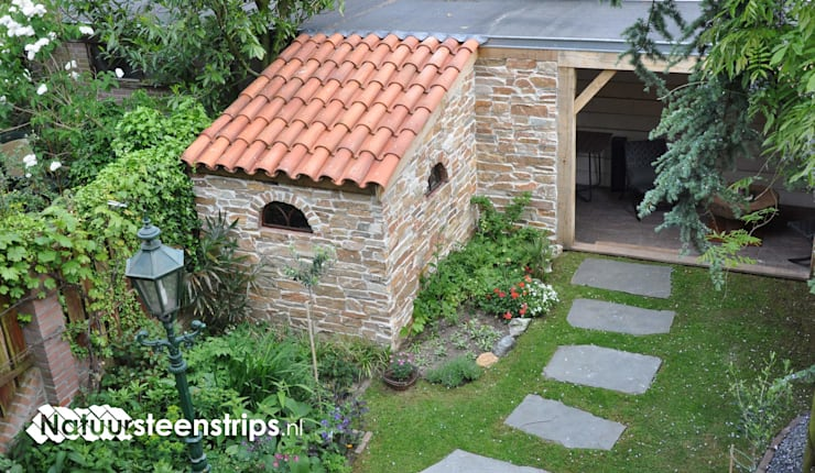 Meditterrane Muurstenen:  Tuin door The Flagstone Company BV