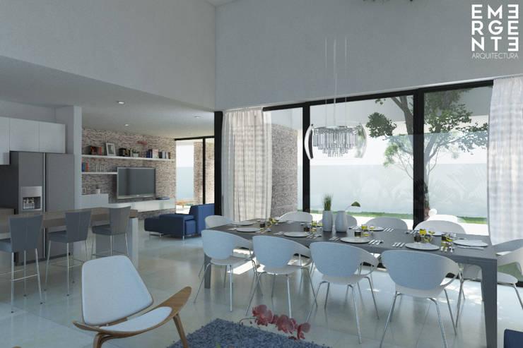 CASA FUNDADORES | Playa del Carmen Q. Roo: Cocinas de estilo minimalista por EMERGENTE | Arquitectura