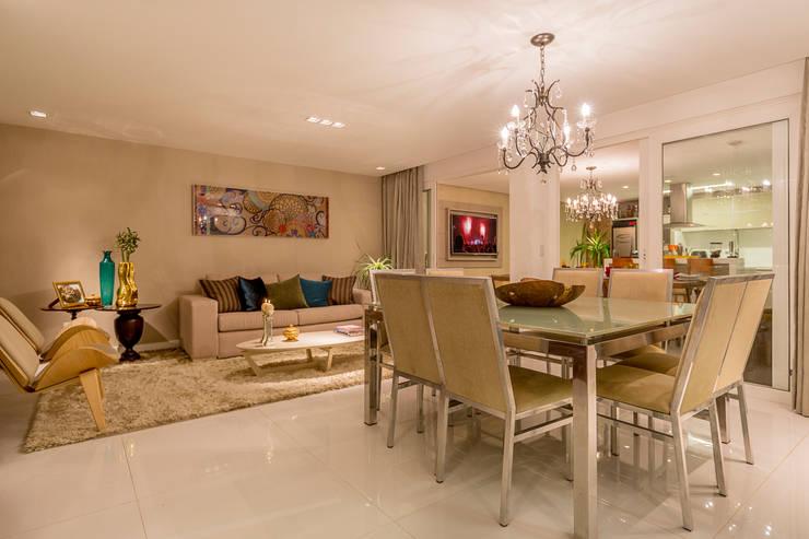 Projeto 1: Salas de jantar  por Cristiane Fernandes Designer de Interiores