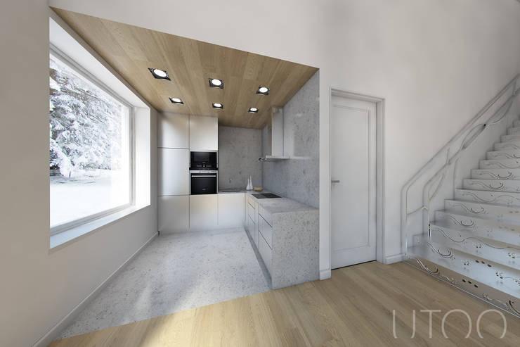 Projekt mieszkania dwupoziomowego: styl , w kategorii Kuchnia zaprojektowany przez UTOO-Pracownia Architektury Wnętrz i Krajobrazu