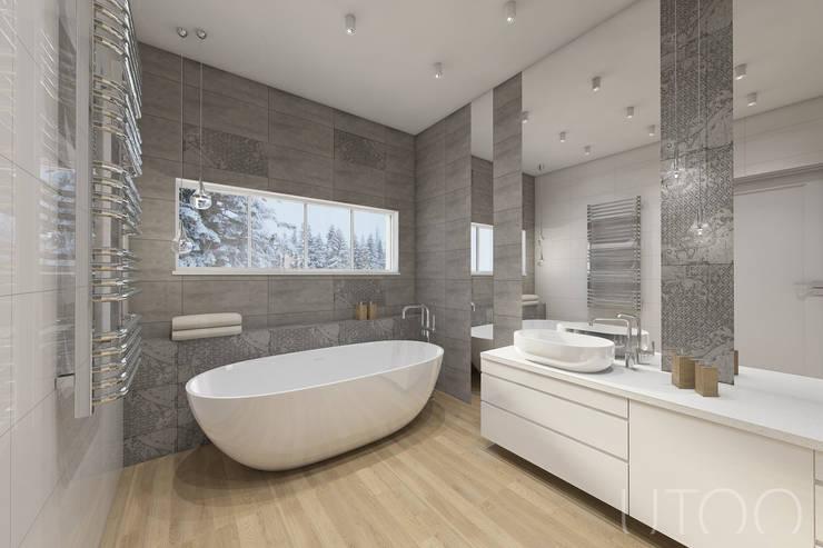 Projekt mieszkania dwupoziomowego: styl , w kategorii Łazienka zaprojektowany przez UTOO-Pracownia Architektury Wnętrz i Krajobrazu