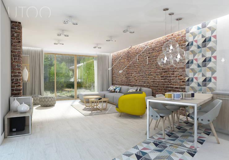 Salas de estilo moderno de UTOO-Pracownia Architektury Wnętrz i Krajobrazu Moderno