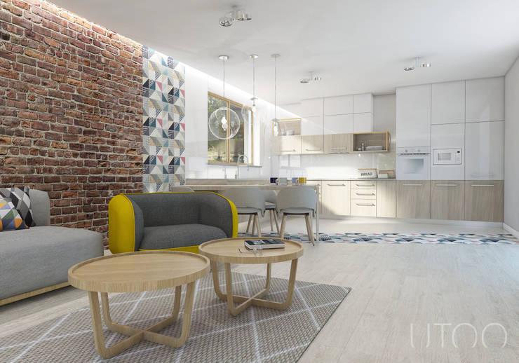 Cocinas de estilo moderno de UTOO-Pracownia Architektury Wnętrz i Krajobrazu Moderno