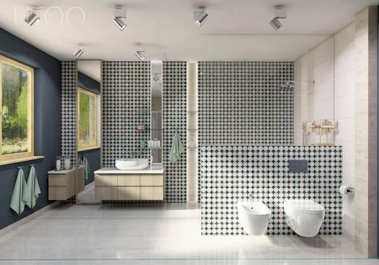 Baños de estilo moderno de UTOO-Pracownia Architektury Wnętrz i Krajobrazu Moderno