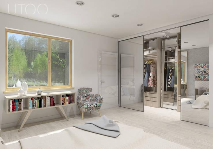 Cuartos de estilo moderno de UTOO-Pracownia Architektury Wnętrz i Krajobrazu Moderno