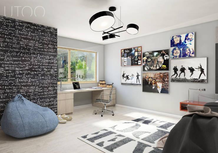 Pokój nastolatka: styl , w kategorii Pokój dziecięcy zaprojektowany przez UTOO-Pracownia Architektury Wnętrz i Krajobrazu