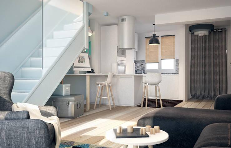 Salas de jantar modernas por Concept d'intérieur