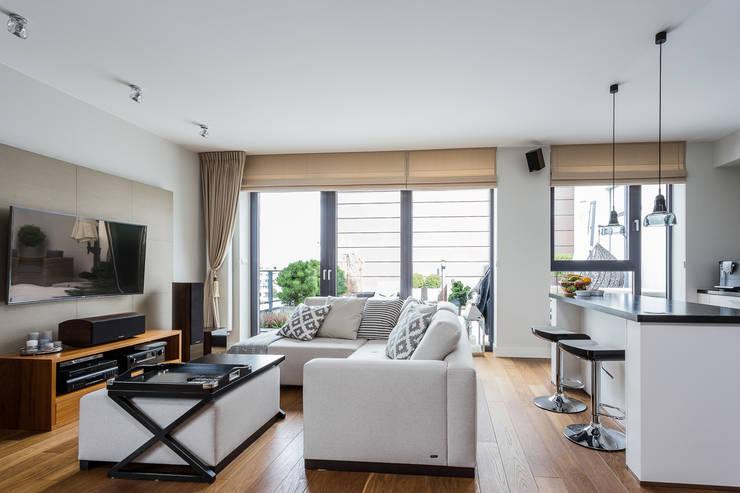 Mieszkanie z Miasteczka Wilanów: styl , w kategorii Salon zaprojektowany przez Michał Młynarczyk Fotograf Wnętrz,