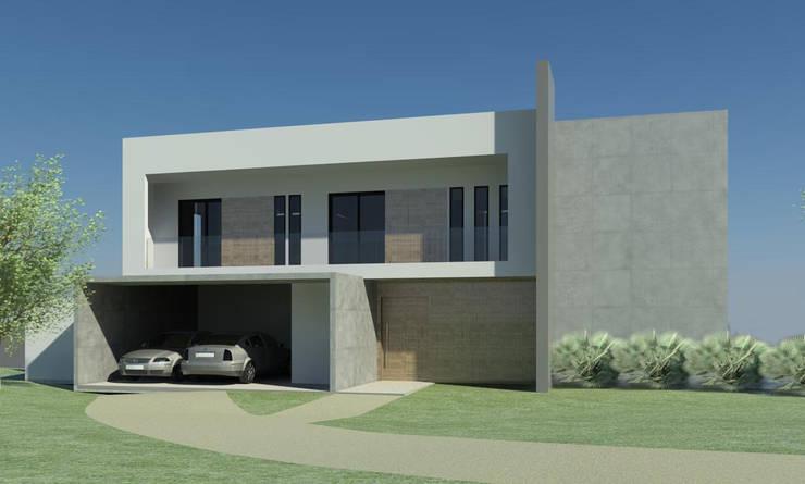 CASA LM: Casas  por ESTUDIO ARK IT,Minimalista Madeira Efeito de madeira