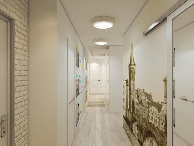 Дизайн-проект в ЖК Миргород: Коридор и прихожая в . Автор – Details, design studio, Эклектичный