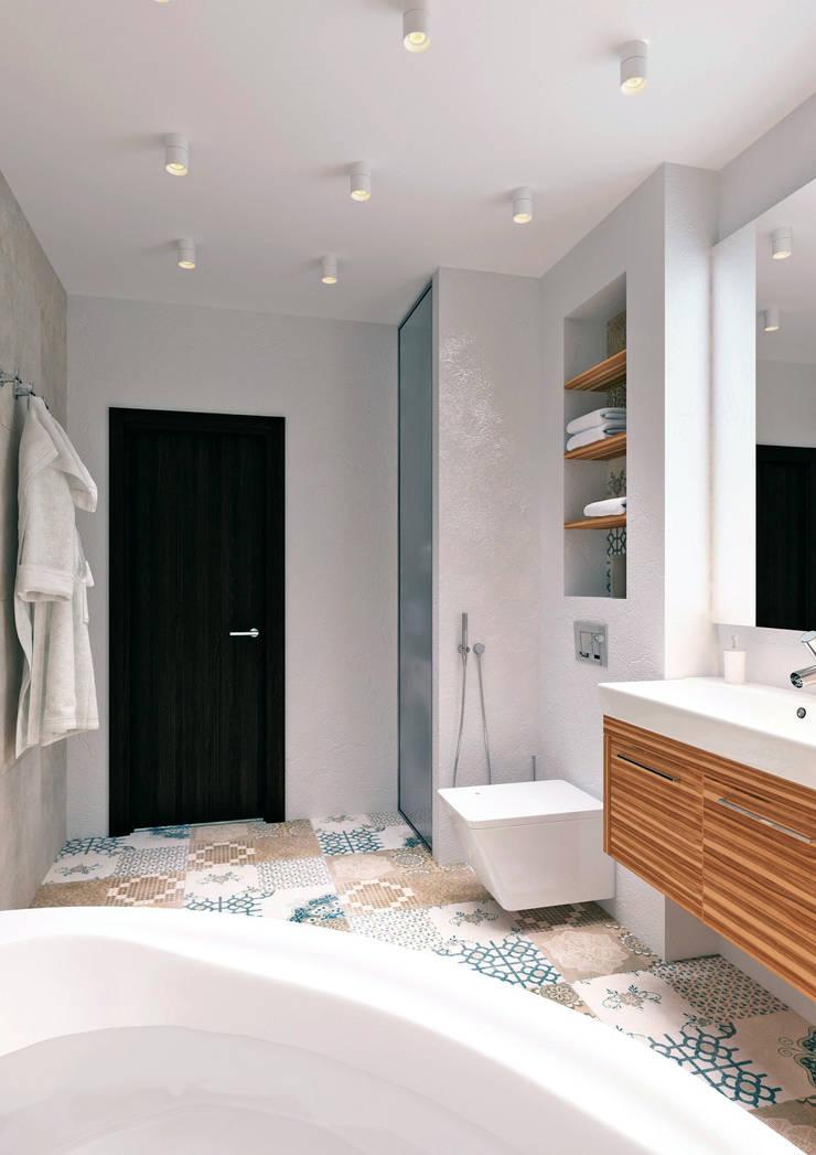 Квартира на Челюскинцев: Ванные комнаты в . Автор – QUADRUM STUDIO