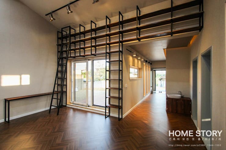 modern Living room by (주)홈스토리