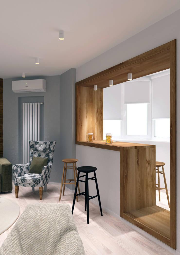 Квартира на Челюскинцев: Гостиная в . Автор – QUADRUM STUDIO