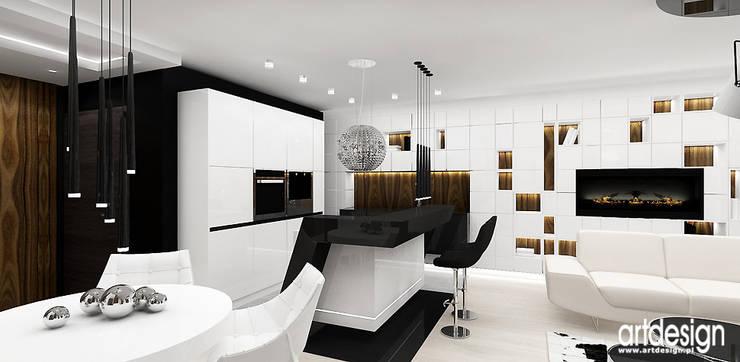 otwarta kuchnia: styl , w kategorii Kuchnia zaprojektowany przez ARTDESIGN architektura wnętrz
