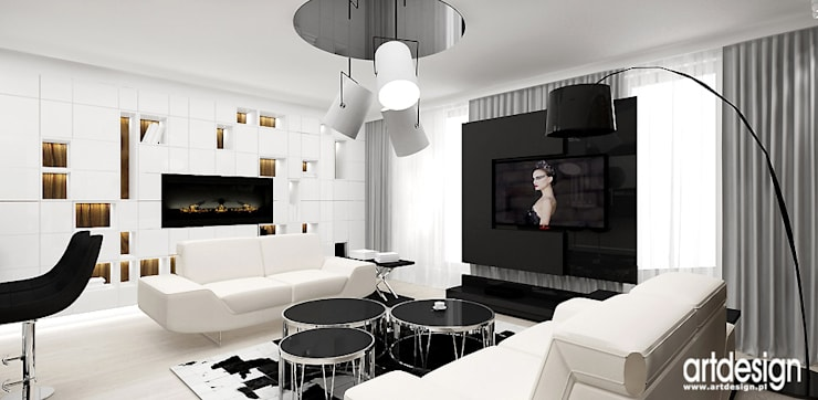 aranżacja salonu: styl , w kategorii Salon zaprojektowany przez ARTDESIGN architektura wnętrz