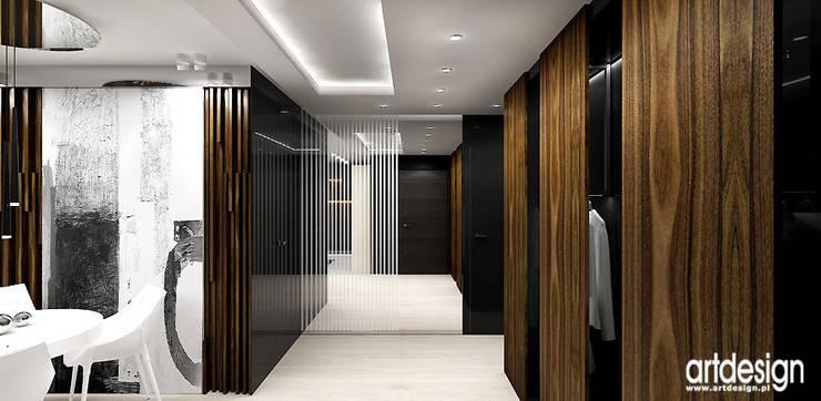 hol z garderobą: styl , w kategorii Korytarz, przedpokój zaprojektowany przez ARTDESIGN architektura wnętrz