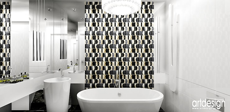 projekt łazienki: styl , w kategorii Łazienka zaprojektowany przez ARTDESIGN architektura wnętrz