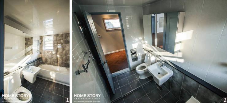 modern Bathroom by (주)홈스토리