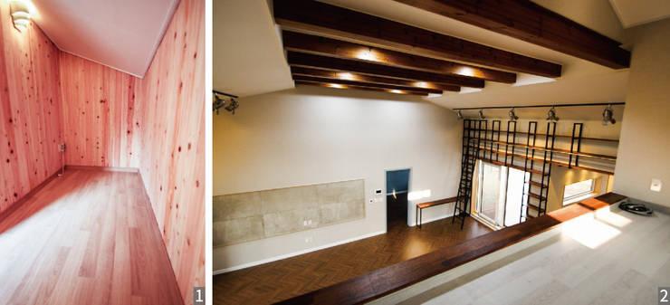 │피톤치드방    │때론 놀이방으로 때론 영화관으로 여러 용도로 사용되는 다락방: (주)홈스토리의  침실