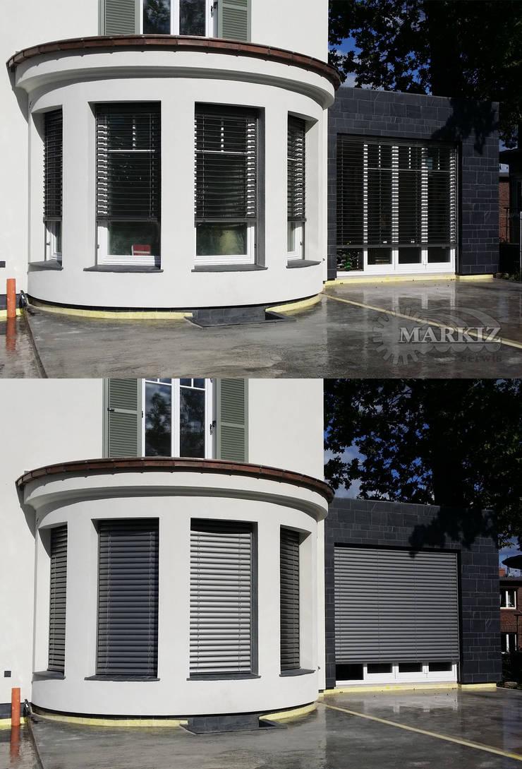 Żaluzje fasadowe: styl , w kategorii  zaprojektowany przez Markiz Serwis,Nowoczesny Aluminium/Cynk