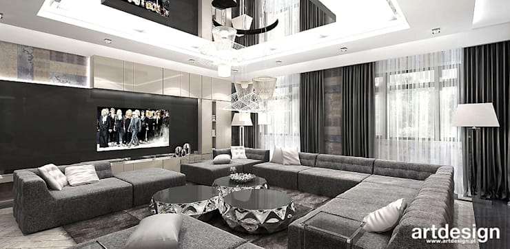projekt wnętrza salonu: styl , w kategorii Salon zaprojektowany przez ARTDESIGN architektura wnętrz