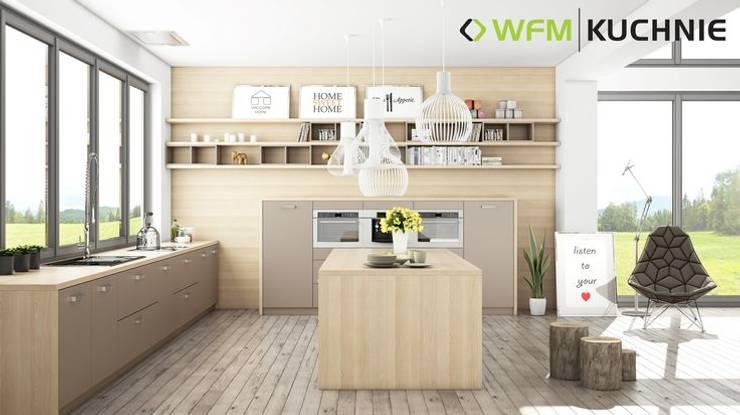 Calma cappucino II mat: styl , w kategorii  zaprojektowany przez WFM KUCHNIE,Nowoczesny