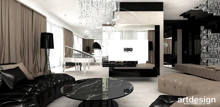 salon w apartamencie: styl , w kategorii Salon zaprojektowany przez ARTDESIGN architektura wnętrz,Nowoczesny