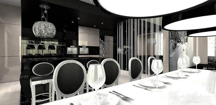 jadalnia w apartamencie: styl , w kategorii Jadalnia zaprojektowany przez ARTDESIGN architektura wnętrz,Nowoczesny