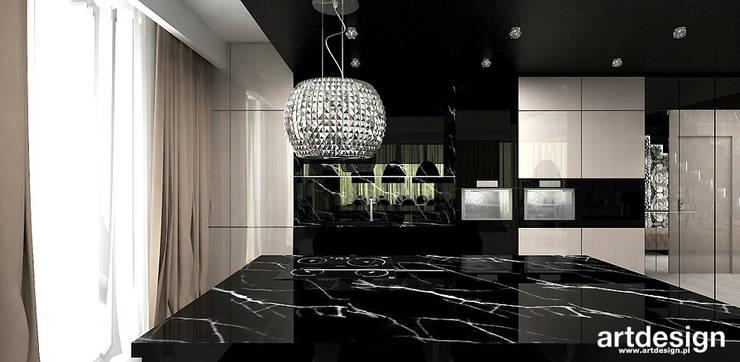 luksusowa kuchnia w apartamencie: styl , w kategorii Kuchnia zaprojektowany przez ARTDESIGN architektura wnętrz,Nowoczesny