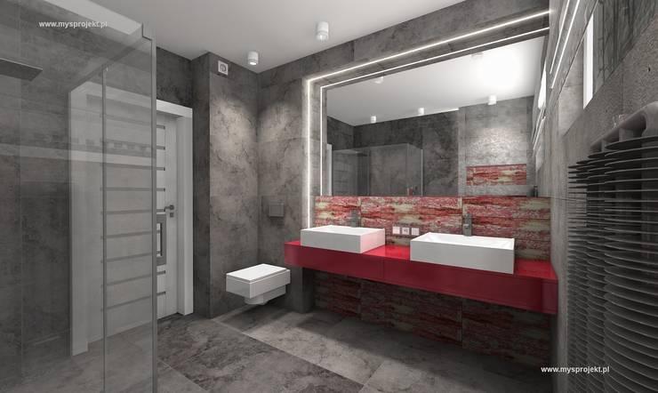 WIZUALIZACJE MYSprojekt projektowanie wnętrz: styl , w kategorii Łazienka zaprojektowany przez MYSprojekt projektowanie wnętrz