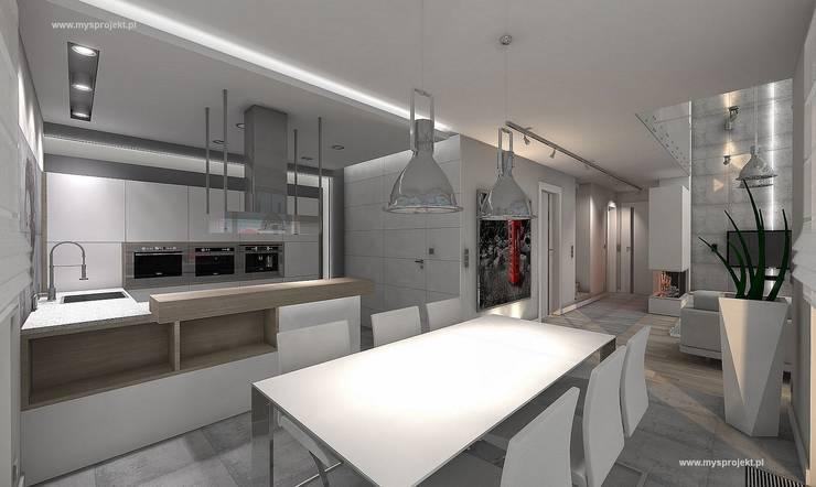 WIZUALIZACJE MYSprojekt projektowanie wnętrz: styl , w kategorii Kuchnia zaprojektowany przez MYSprojekt projektowanie wnętrz