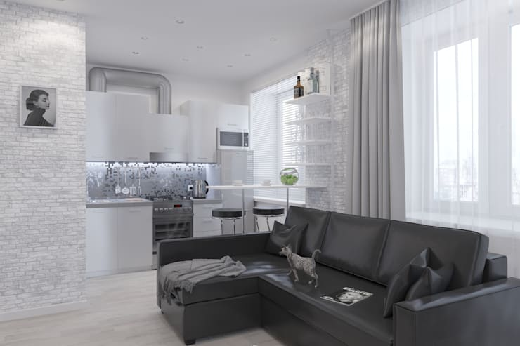 3д-визуализация и дизайн-проект квартиры в г. Люберцы: Кухни в . Автор – Антон Булеков