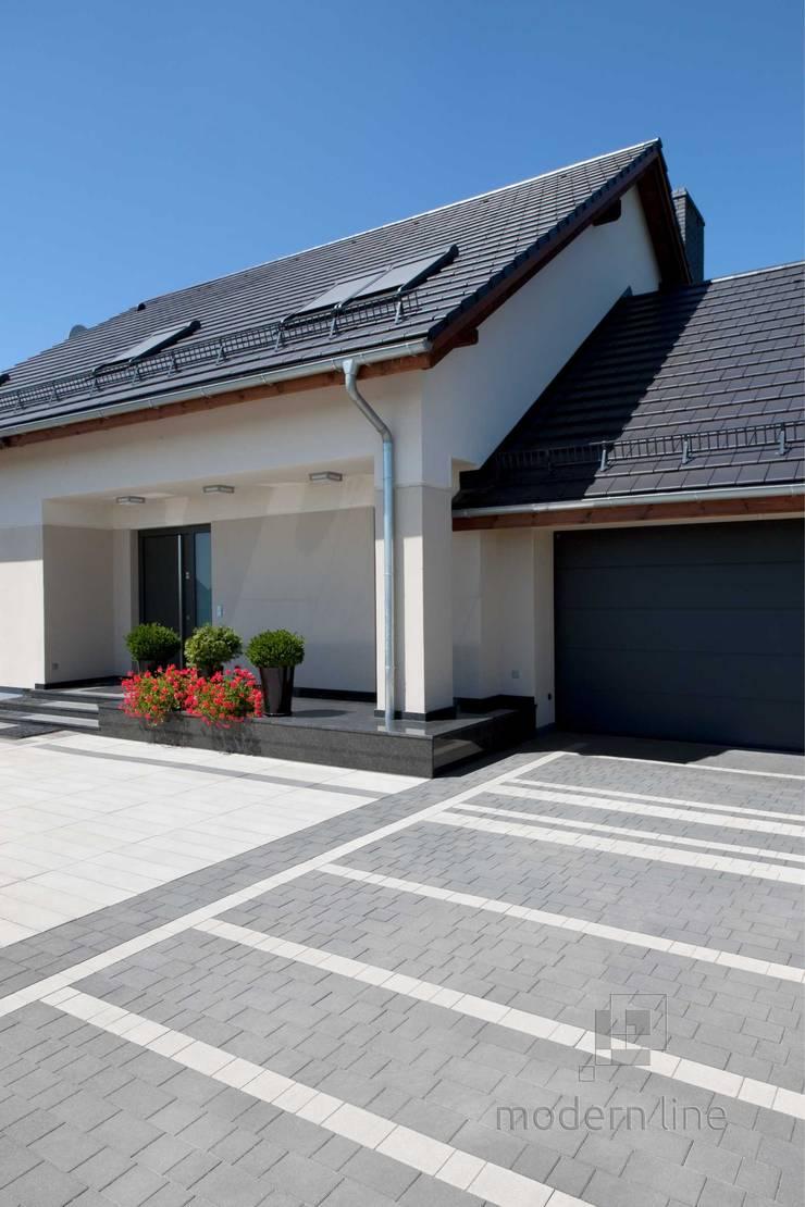 Nowoczesne nawierzchnie z betonu – taras i ogród: styl , w kategorii Ogród zaprojektowany przez Modern Line