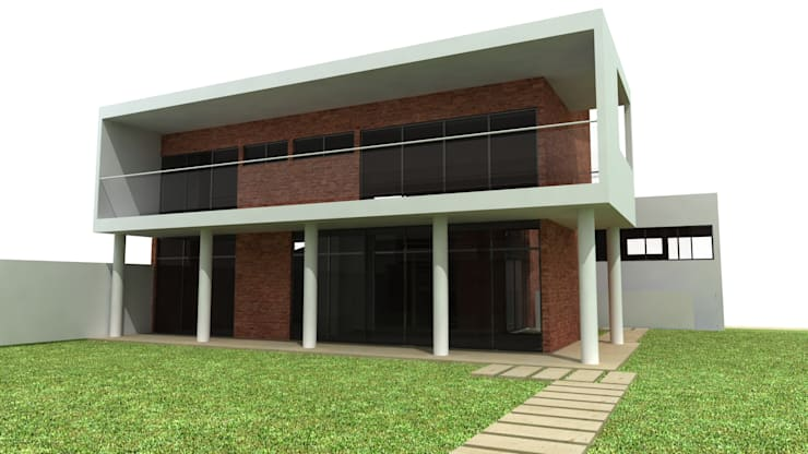Casa: Casas  por Grifo Arquitetura,