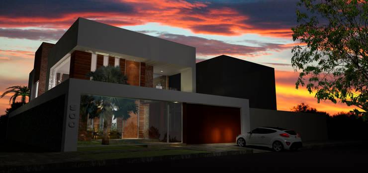 casa em Poços de Caldas: Casas  por Futura Arquitetos Associados