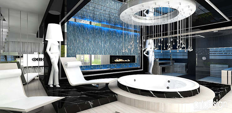 Luksusowe spa: styl , w kategorii Spa zaprojektowany przez ARTDESIGN architektura wnętrz