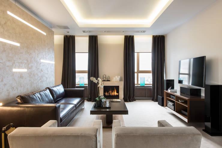 Men's apartment: Гостиная в . Автор – Ольга Райская