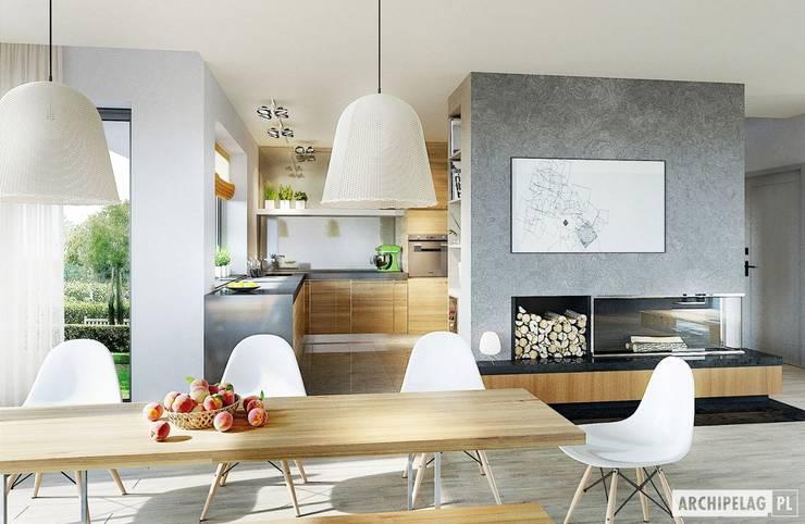Comedores de estilo moderno por Pracownia Projektowa ARCHIPELAG