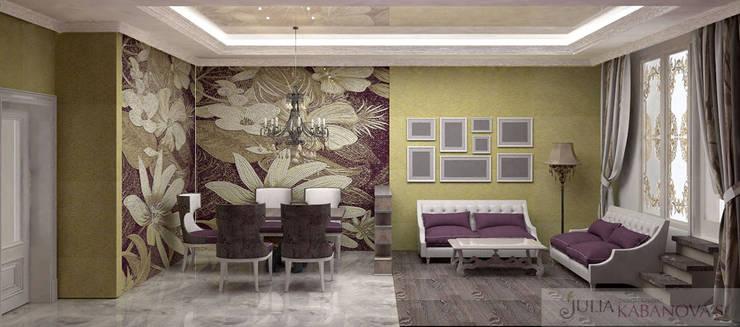 дизайн проект на проспекте Маршала Жукова: Гостиная в . Автор – JULIA KABANOVA's DESIGN STUDIO