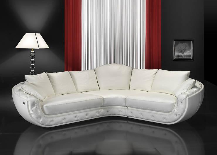 Fitzgerald - narożnik marki Nieri : styl , w kategorii Salon zaprojektowany przez Italian Style