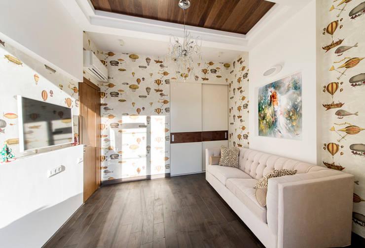 Дизайн проект интерьера загородного дома в КП Покровский: Детские комнаты в . Автор – r-interiors,