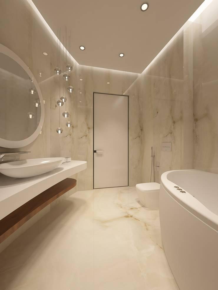 Коттедж: Ванные комнаты в . Автор – Kucherenko Design,