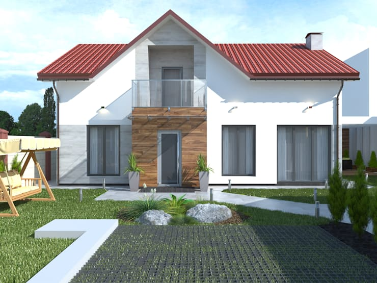 Projekty,  Domy zaprojektowane przez Kucherenko Design