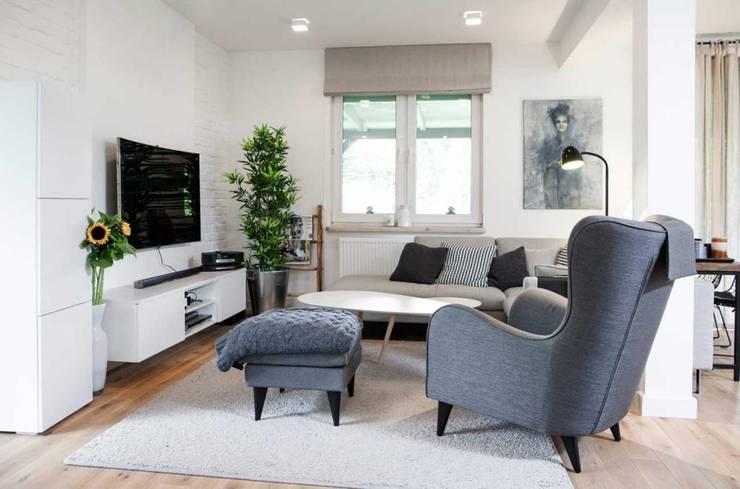 Realizacja 13 : styl , w kategorii Salon zaprojektowany przez MGN Pracownia Architektoniczna,Nowoczesny